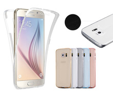 Wholesale hot selling full cover 360 degree transparent phone case for samsung Galaxy NOTE3