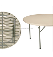 Modern folding muti-functional used round banquet event tables for sale in dining room furniture