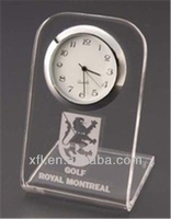 L-shape acrylic souvenir clock handwork for office artware