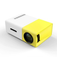 1chip 16:9 LCD type G300 mini projector with RCA cable for Home