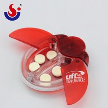 Print Logo 2 Compartment Pill Box With Light,Pill Container