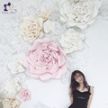 Wholesale decorations flowers wall romantic handmade artificial paper flowers for wedding