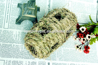 Durable hand-made pet traversable tunnel nest/straw-made hamster toys/cat pet nest for wholesale