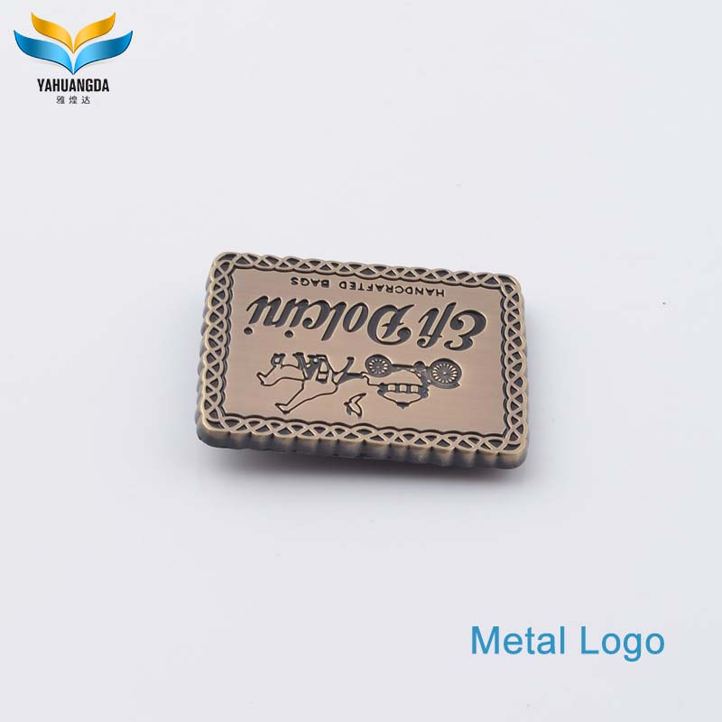 new product custom gold metal plates brand logos for clothing