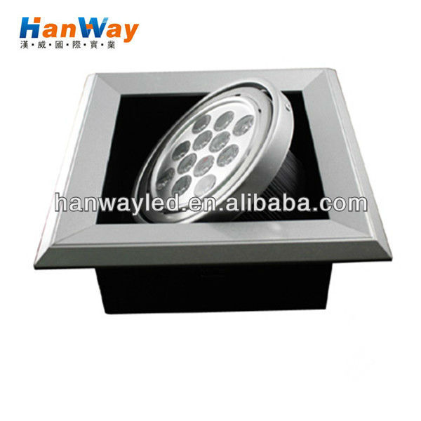 aluminium surface mounted 12w led ceiling light for office/ shop/ home