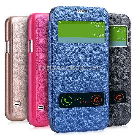 wholesale cell phone accessories for Window FLIP LEATHER Galaxy S5 Case