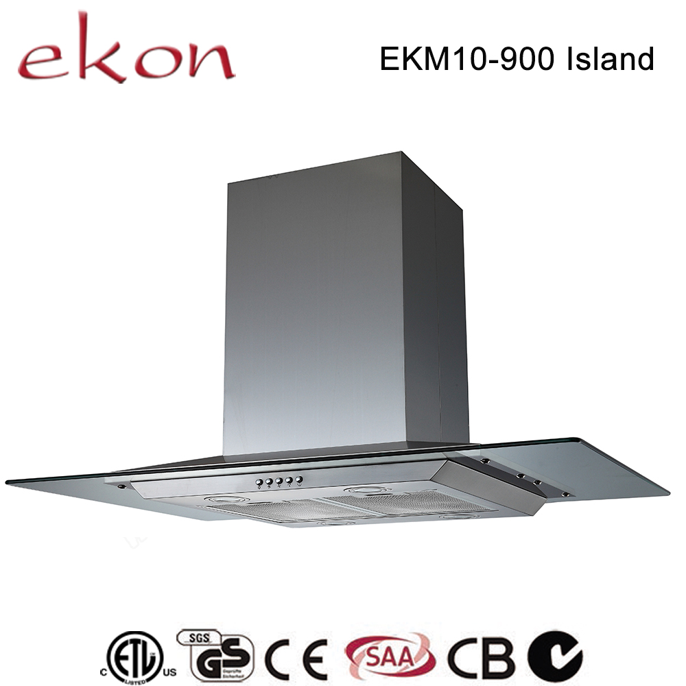 CE GS SAA CB C-Tick approved decorative self venting restaurant hood ceiling mounted 36 inch island range hood for low ceiling