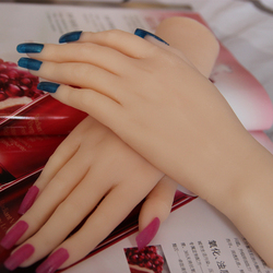 NEW jewelry stand display TPE soft model realistic sexy lifelike silicone mannequin hand for sale