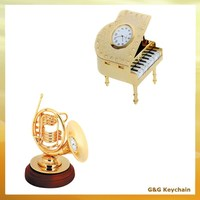 Goldplated Mini Music Theme Gift Piano