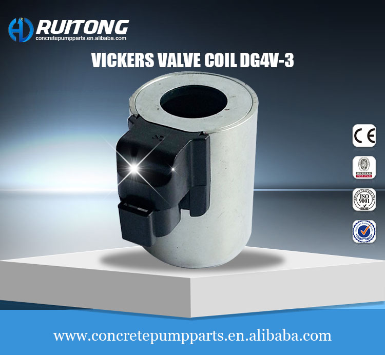 Vickers hydraulic solenoid valve coil DG4V-3 for concrete pump