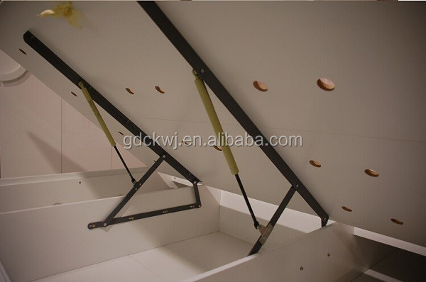 custom high quality steel door lid stays heavy duty 60n 80n cross reference gas spring for wall bed