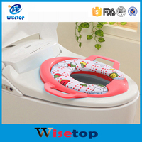 Hot New Release Baby Potty Training Soft Pad Toilet Seat With Handles Splash Protector