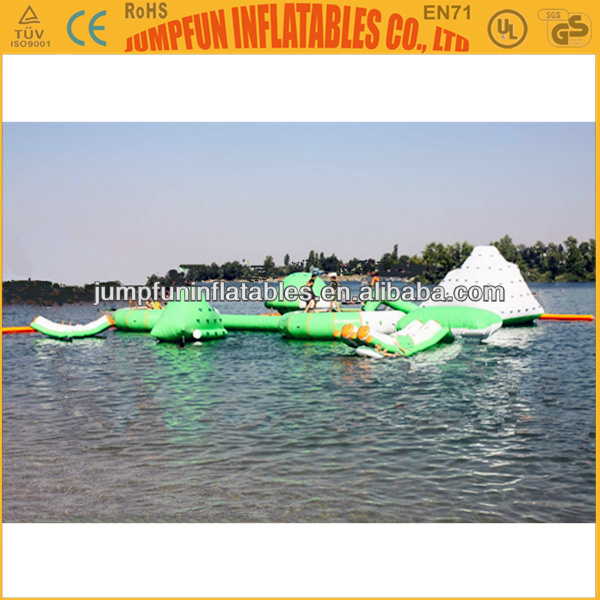 Water adventure inflatable park floating on water/Inflatable aqua games/water park games in summer