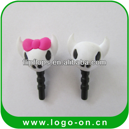 2015 hot seller 3D earphone jack anti-dust plug