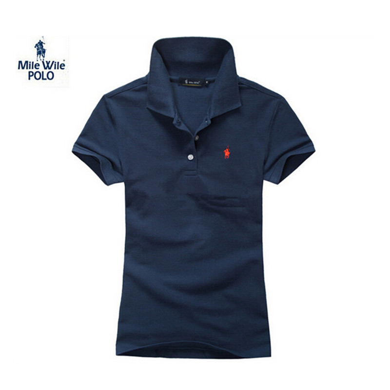2015 Summer Style Horse Brand Womens Polo Shirt Short Sleeves Women Polo Hombre Ladies Shirt Fashion Polo Feminina Shirt Polos