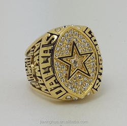 1992 Football High Quality Championship Ring AIKMAN Yellow Gold Plating Custom Name & Number Sports Ring Real Pictures
