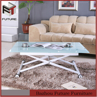 Cheap metal & glass foldable table used for living room