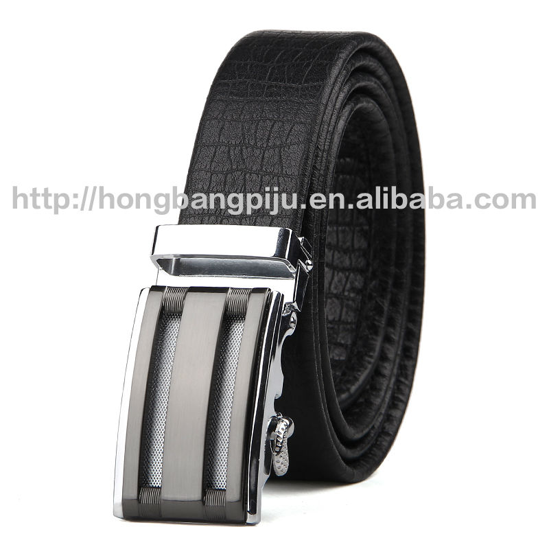 Men formal automatic buckle leather belt