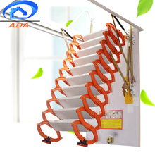 Titanium Magnesium Alloy Indoor Invisible Folding Attic Stairs