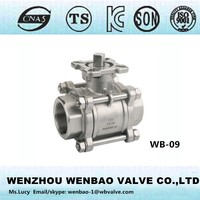 WB-09 ISO 3pc ball valve /Female thread full bore ball valve /3pc ball valve DN6