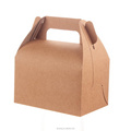 Eco Kraft Card Brown Carry Boxes Gable Gift Candy Cake Wedding Favour Boxes