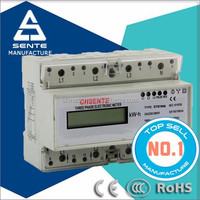 DTS7666 types of three phase DIN RAIL electricity meters energy meter connection 3 ph
