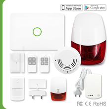 English manual House Security/GSM Home Burglar Alarm System support app control outdoor siren S1/868MHz/GSM/MiB(B2B)
