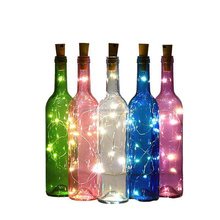 Wine Bottle With Twinkle Fairy Lights Powered from Cork, Wine Bottle Decor With White Lights