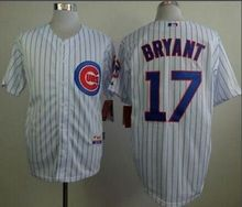 Chicago Cubs 2015 Cool Base Kris Bryant #17 White Jersey