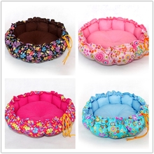 China manufacturers round shape dog bed cover small dog bed elevated pet bed