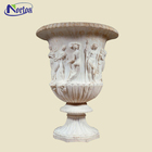 Marble carving garden decoration marble planters marble vase NTBS-017
