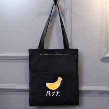 2017 New Arrival Flat No Gusset Canvas Tote Bag