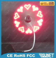 Air conditioning cooling items logo printing tiny led message fan