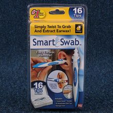 Wholesale Free Shipping Smart Swab Easy Earwax Removal Soft Spiral Ear Cleaner with 16 Tips Ear-pick Clean Tools Ears Care Swab