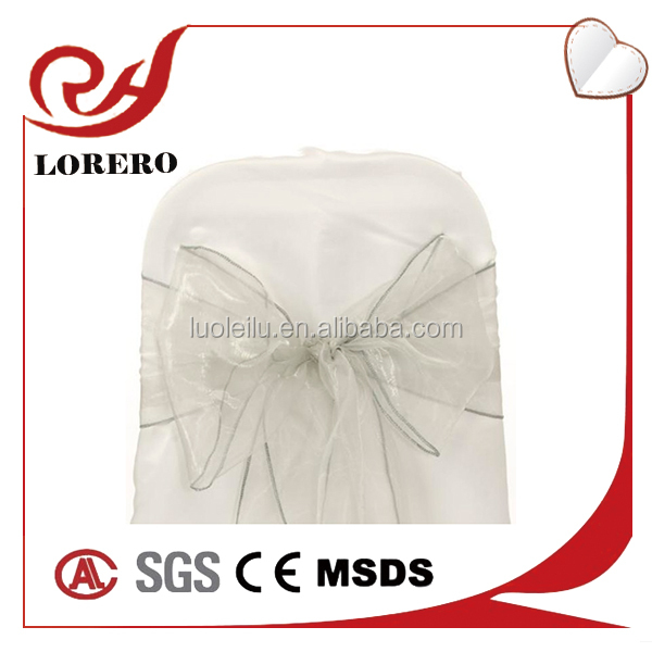Wholesale silver Organza Sashes for Wedding and Banquet Chair