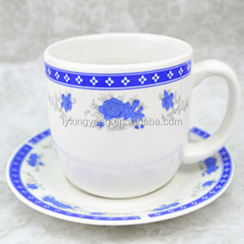320cc ceramic coffee cup and saucer exported to South America