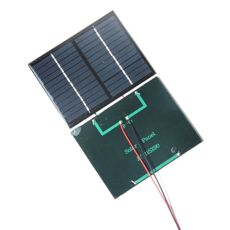 BUHESHUI High Quality 1.5W 12V Polycrystalline Small Solar Panel With Cable Education Kits DIY Solar Toys/System 90*115MM