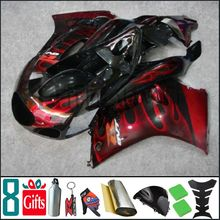 RGV250 1990 1991 1992 1993 1994 1995 1996 black and red flames Body Kit Fairing For Suzuki RGV-250 1995 1994 RGV 250 90 91 92 93