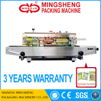 PT021 Automatic continuous plastic film sealer/bag sealing machine
