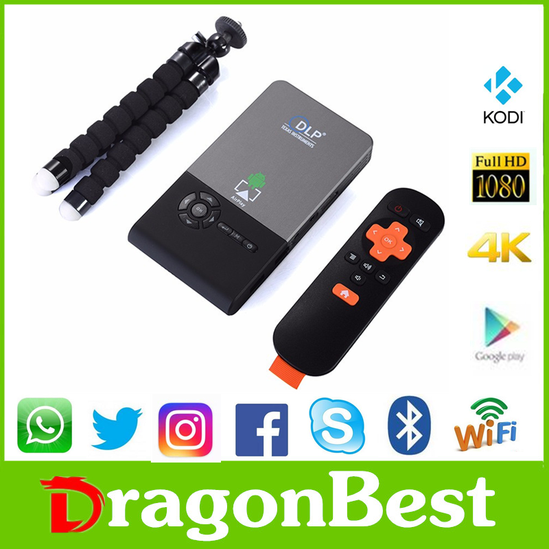 2016 New design DLP C2 RK3128 1G 8G Micro projector android tv dongle ott user manual Speaker 1080P home theater