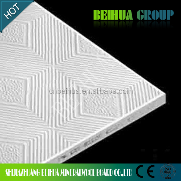 60x60 High Quality Pvc Paper Laminated Gypsum Boards False Ceiling Tiles