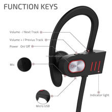 Super long 220 hours standby time bt v4.1headphones waterproof sport in ear stereo wireless bluetooth headset with mic for sport