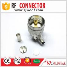UHF Male to Female Right Angle Elbow uhf RF Adapter Connector PL-259 SO-239