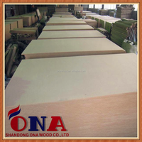 5mm E0 glue melamine mdf board to make wooden furniture