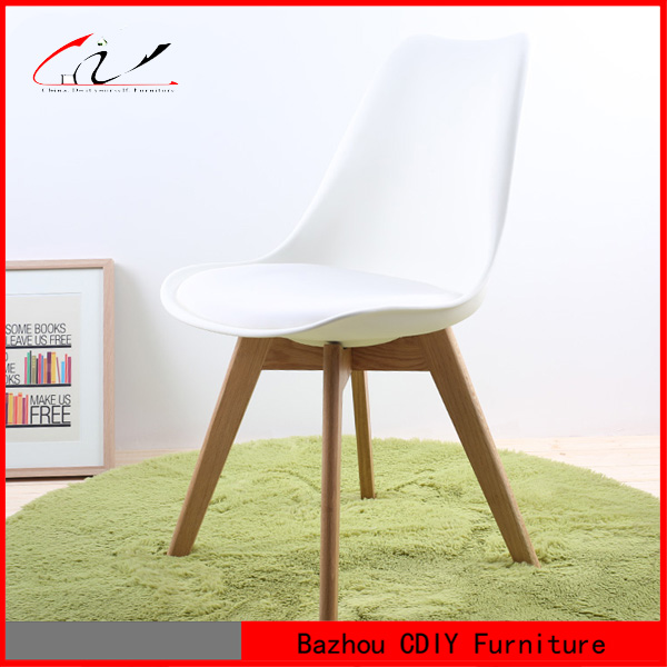 high quality Emes Design pp seat plastic dining chair with cushion