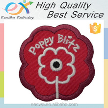 custom high quality sew-on embroidery fabric patch