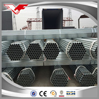 Hot dipped galvanized schedule 40 steel pipe / mild steel pipe with low galvanized
