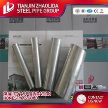 zinc coated 40 g -200g Round iron pre galvanized china pipe tapered steel tube structural section properties for greenhouse