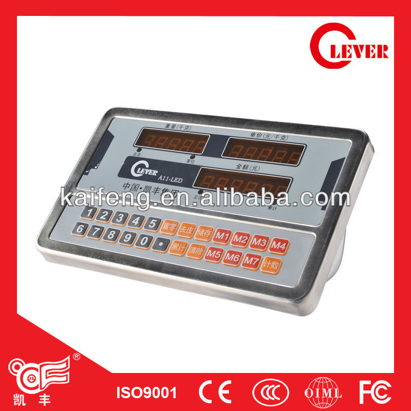 Electronic Price Stainless Steel Weighing Indicator