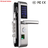 Self Control Locking High Class Double Bolts Code Door Lock with Handle